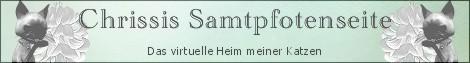 Gästebuch Banner - verlinkt mit http://www.chrissis-samtpfotenseite.de